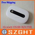 Desbloqueado E5220 MIFI Hotspot Wi-fi Móvel 3G Modem HSPA +/HSPA/UMTS EDGE/GPRS/GSM IEEE 802.11b/g/n Beyong E5331/E5332