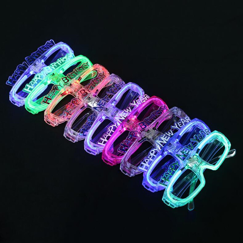 Creative Happy New Year LED Light Up Glasses Children ...