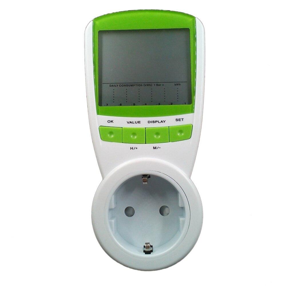 Digital Energy Saver Energie Meter Tester Elektro Drahtlose Watt