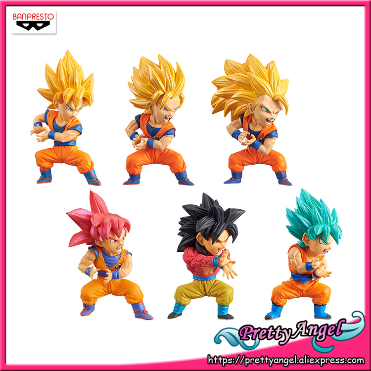 6pcs Dragon Ball Z DBZ Super WCF World Collectable 30th Vol.1 Figures Toy In Box