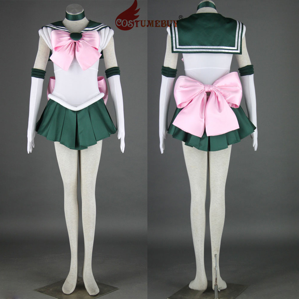 CostumeBuy Anime Sailor Moon Makoto Kino Sailor Jupiter Cosplay Costume Adult Girls Schools Suit Custom Made Any Size L920