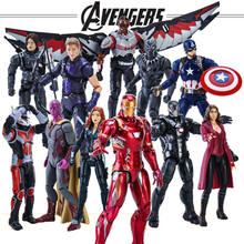 Avengers Endgame Captain America Black Panther Visione Falco Iron Man di Azione del PVC Figure toy(China)