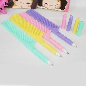 цена 1Pcs Promotion Newest Korean Creative Comb Pen Ballpoint Pens Stationery Plastic Office School Supplies Caneta онлайн в 2017 году
