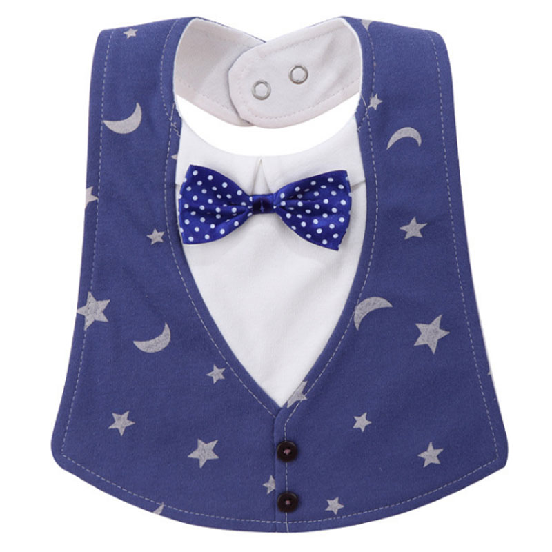 Baby Bibs Gentleman style Cotton Waterproof Bib Infant Saliva Towels Newborn Baby Wear Accessories