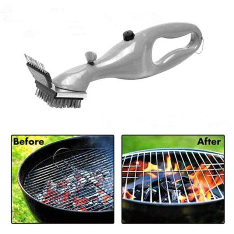 Grill Edelstahl BBQ Reinigung Pinsel Churrasco Outdoor Grill Reiniger mit Power von Dampf bbq zubehör Kochen Werkzeuge