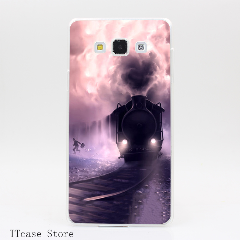 3832CA Train train quotidien Transparent Hard Cover Case for Galaxy A3 A5 A7 A8 Note 2 3 4 5 J5 J7 Grand 2 & Prime