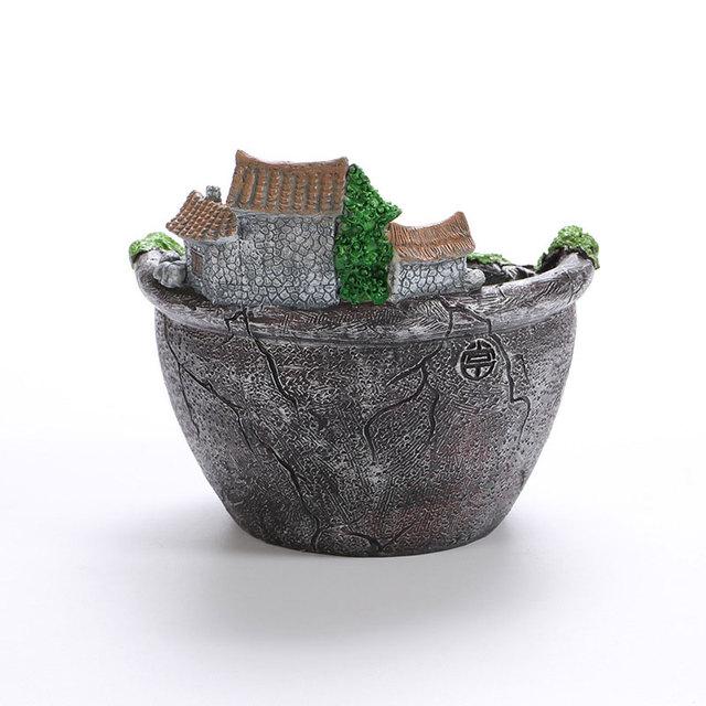 Creative Micro Landscape Flower Pot Hanging Garden Design Flowers Baskets Succulents Plants Holder House Bonsai Garden Pots