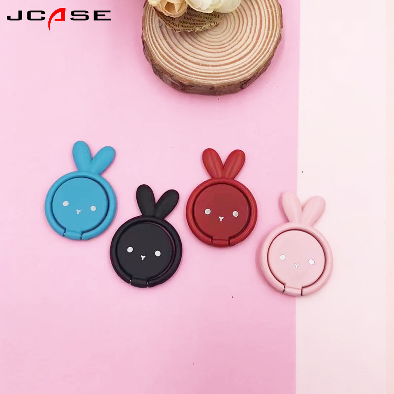 Rabbit General Phone finger ring holder 360 Degree stand for iPhone X 7 6 plus Samsung Xiaomi Smartphone Tablet plain bague