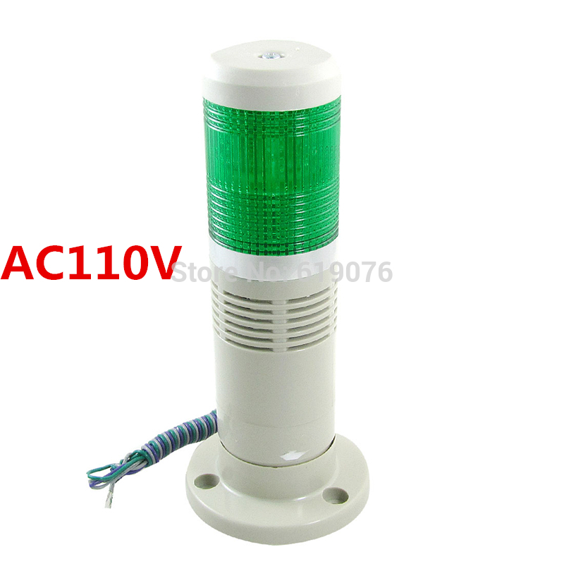 AC110V steady LED light with buzzer sound Green Signal Tower Light ...