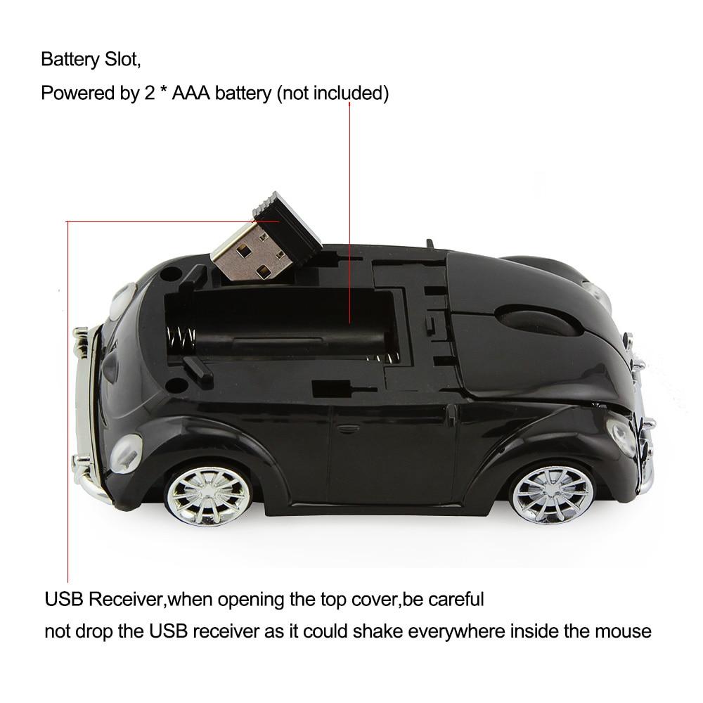 3D Xmas USB optikai vezeték nélküli egér VW Beetle Car Shape - Számítógép-perifériák - Fénykép 3