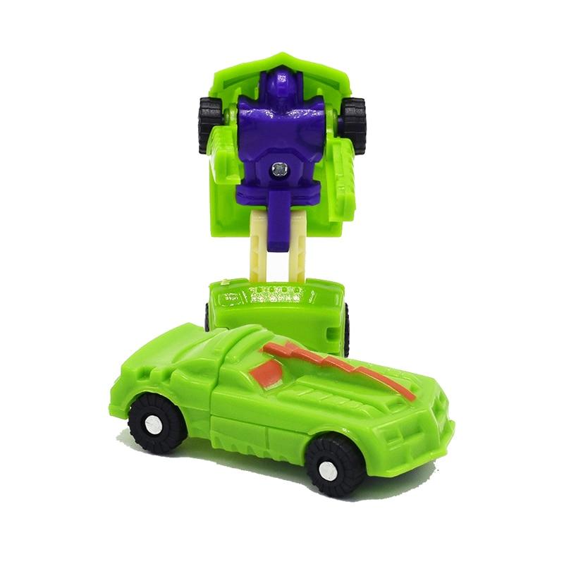 12pcs Kids Mini Robot Car Transform Toys Deformation Action Figures Models