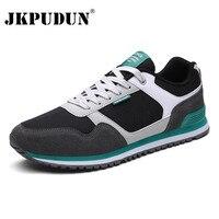 JKPUDUN Men Shoes Casual Brands Lace Up Mens Trainers 2017 Designer Walking Gym Shoes Men Flats