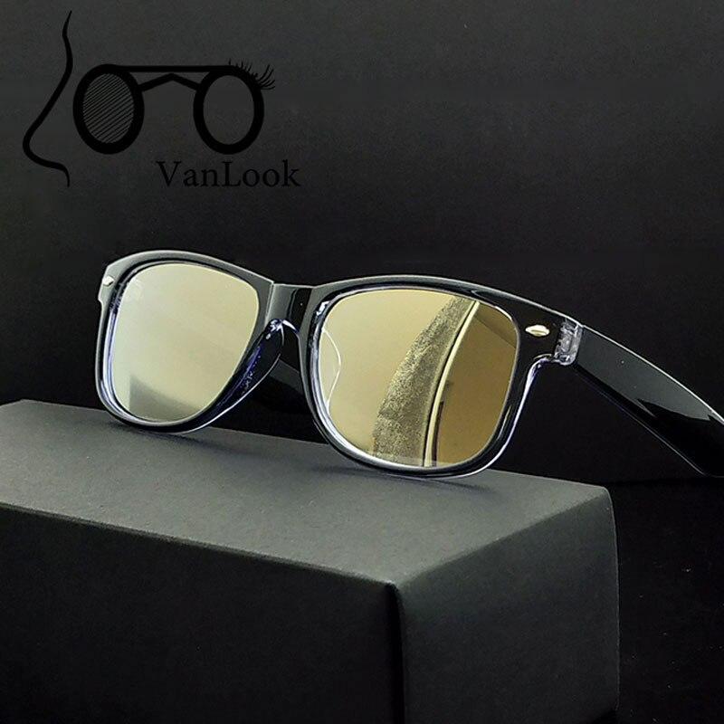Počítačové brýle průhledné brýle pro ženy Pánské módní brýle rám Oculos De Grau čirý zlatavý objektiv Anti Blue Ray