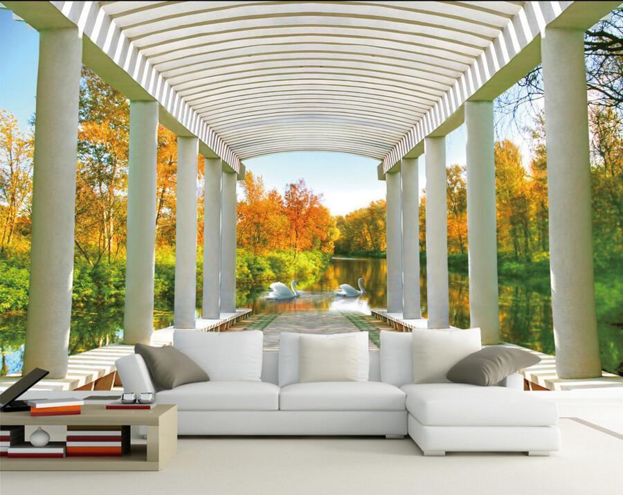 Compra 3d fondo de pantalla paisaje online al por mayor de - Space wallpaper room ...