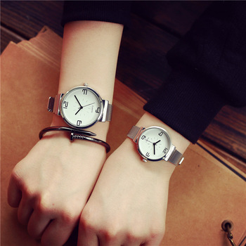 Black Silver Couple Watch For Male And Female 1