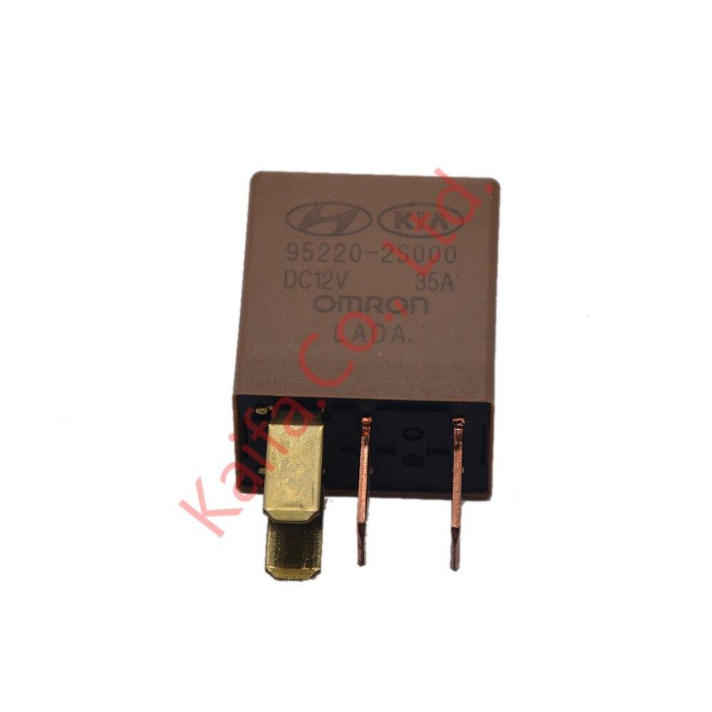 5pcs Lot Car Violet Relay 12v 35a Omron 4 Pins Gold Color A256 Current