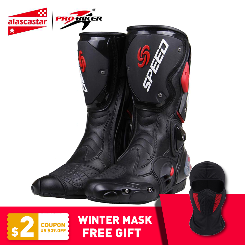 PRO-BIKER SPEED BIKERS Motorcycle Boots Moto Racing Motocross Off-Road Motorbike Motorcycle Shoes Botas Moto Biker Riding Boots