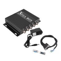 XVGA Box RGB RGBS RGBHV MDA CGA EGA to VGA Industrial Monitor Video Converter with US Plug Power Adapter Black NEW Digital