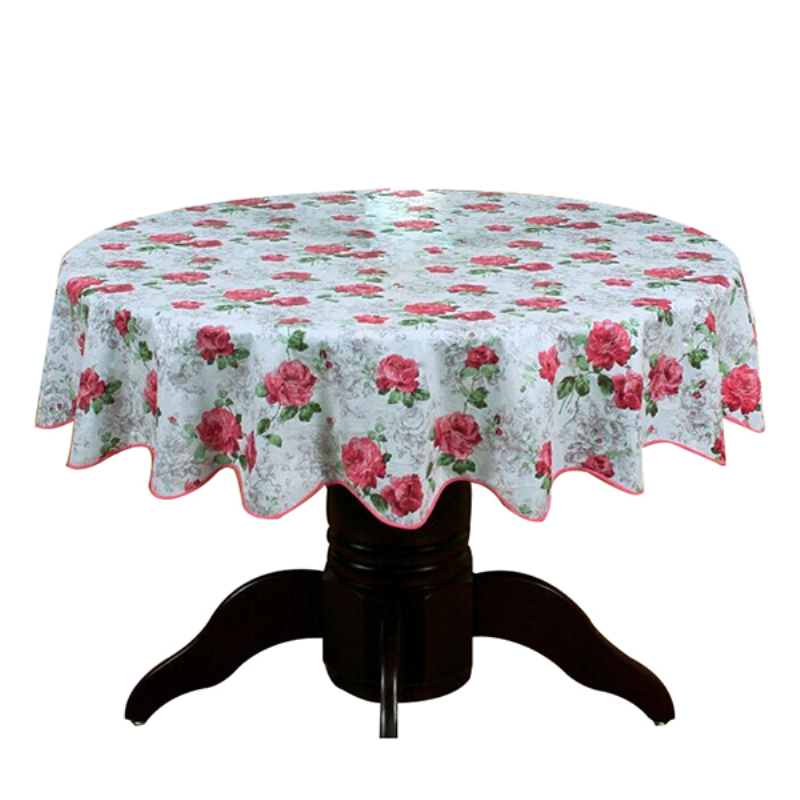 Pastoral Round Table Cloth PVC Plastic Table Cover Flowers Printed tablecloth Waterproof Home Party Wedding Decoration in Tablecloths from Home Garden