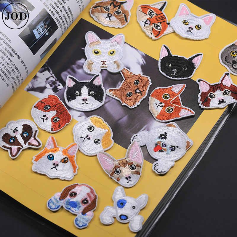 Маленькая нашивка в виде кота наклейки на детскую одежду милые значки Аппликации