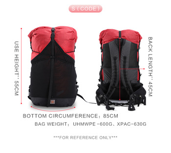 3F UL Trajectory 35L XPAC & UHMWPE Ultralight Hiking Backpack 1