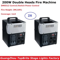 2 Units New Arrival 200W Stage Flame Machine Spray Fire Machine DMX Flame Projectors Stage Lighting Equipment DMX Fire Machine