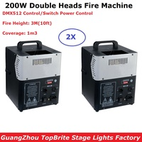 2 Units New Arrival 200W Stage Flame Machine Spray Fire Machine DMX Flame Projectors Stage Lighting Equipment DMX Fire Machine