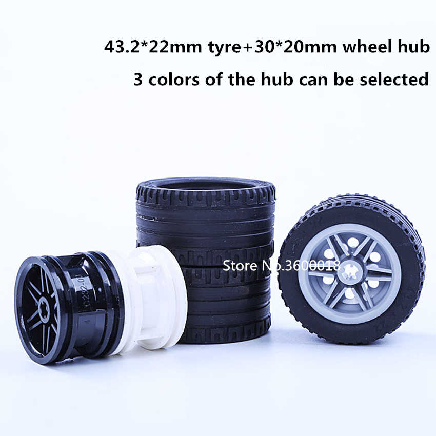4set/lot Decool TECHNIC wheel 43.2*22mm  mechanical Compatible with legos 44309 56145 MOC DIY blocks bricks parts set