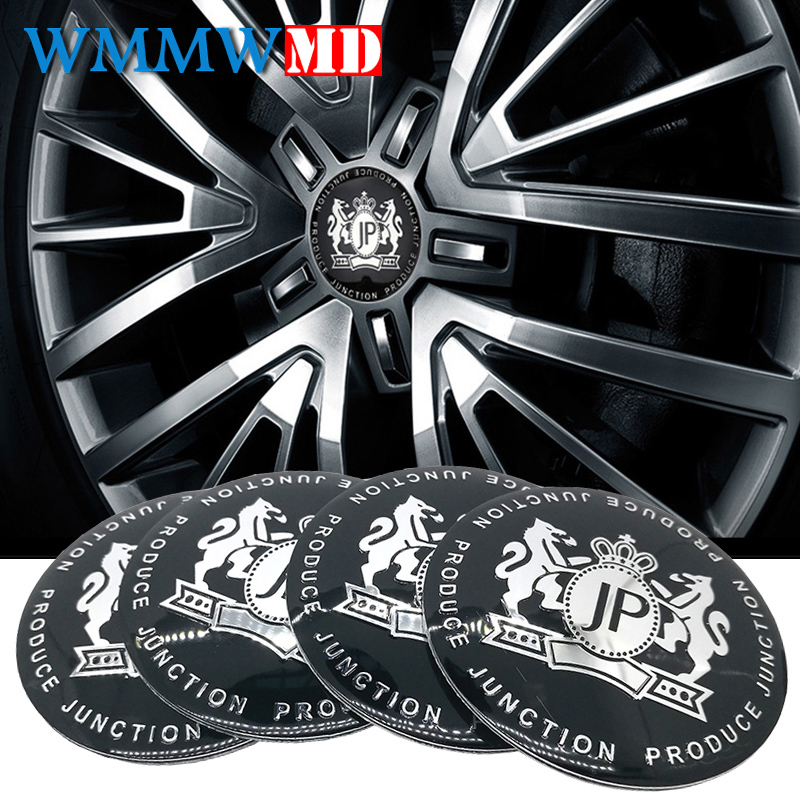 4pcs Car Styling VIP 56mm Alloy Tyre JP Car Tyre Steering Wheel Center Hub Cap Emblem Badge metal Sticker For BMW Nissan Opel MG auto chrome camaro letters for 1968 1969 camaro emblem badge sticker