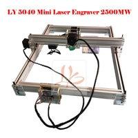 EUR Free Tax 2500MW Desktop DIY Violet CNC Router LY 5040 Mini Laser Engraving Machine Working