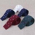 Ternos de negócio Dot Gravata Gravatas Cravata Acessórios Da Marca Lenços Laço Clássico Para O Presente Popular Tricô Gravata Gravata Para Os Homens
