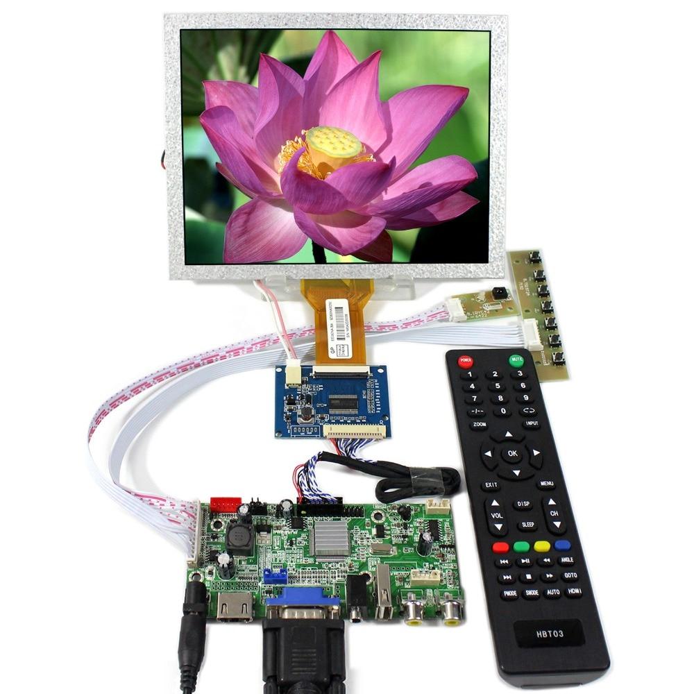 HDMI+VGA+AV+Audio+USB LCD Controller board With 8inch 800x600 EJ080NA-05A LCD Screen hdmi vga av audio usb fpv controller board 8inch 800x600 ej080na 05a lcd panel screen model lcd for raspberry pi