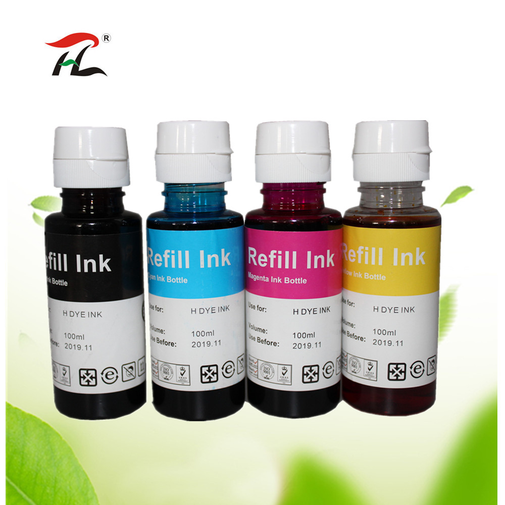 YI LE CAI compatible 400ml color dye Ink refill kit for HP