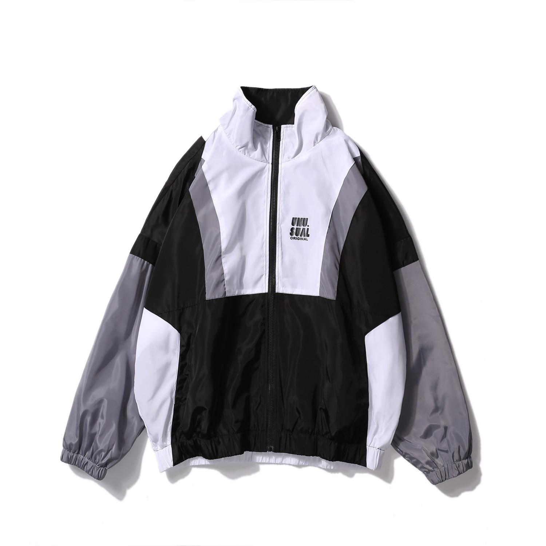 Spring Track Mens Harajuku Color Block Jacket Oversized Hip Hop Windbreaker Vintage Zip Jackets discount top Coat Streetwear