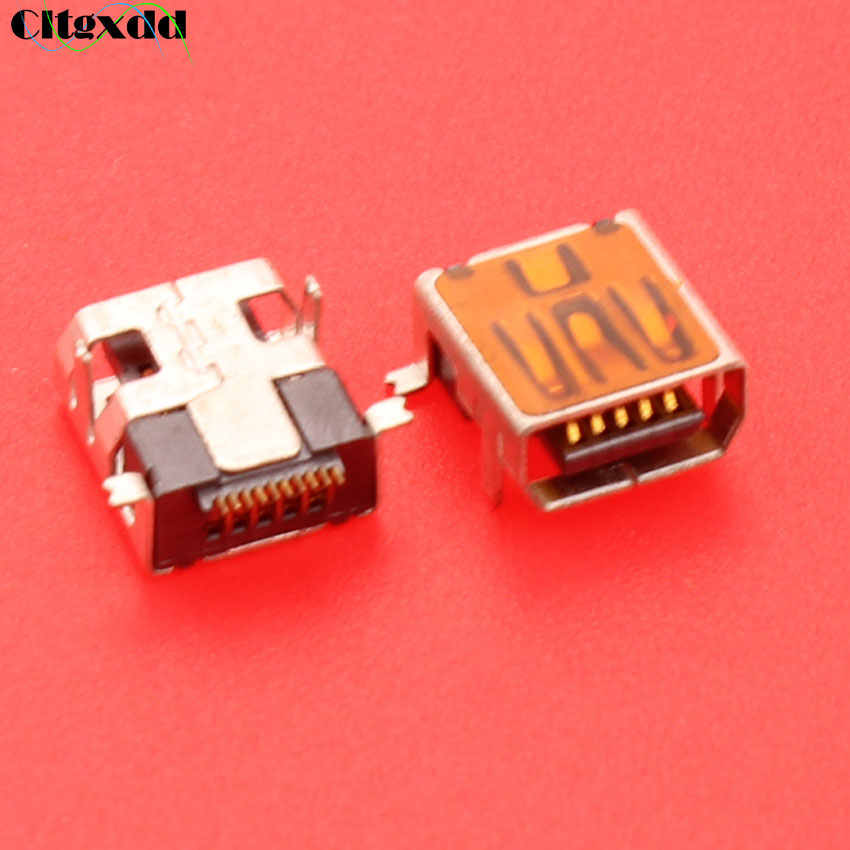 Cltgxdd 10 pin Mini pengisian USB jack socket pelabuhan konektor 10pin V3 port untuk ponsel dll jenis pendek