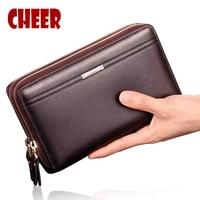 Brand Business wallet men purse Clutch luxury portfolio money clip coins pocket High capacity Casual Holders wallets phone bag