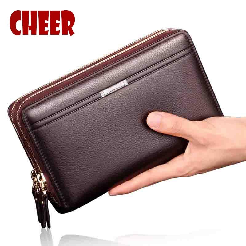 Brand Business wallet men purse Clutch luxury portfolio font b money b font font b clip