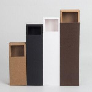 Image 3 - Scatole dimballaggio del sapone fatto a mano dei gioielli neri bianchi del contenitore di regalo del tipo del cassetto della carta Kraft per la caramella della festa nuziale