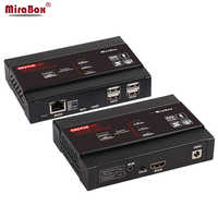 Mirabox 100m 4K KVM USB HDMI IP Cat5e Cat6 Extender apoyo 802.3af POE USB2.0 pasar a través de 4K @ 30Hz 4:4:4 latencia <50ms