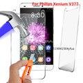 0.33mm 2.5d 9 h premium de vidro temperado filme protetor de tela para philips xenium v377 caso de telefone celular + ferramentas de limpeza