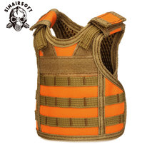 Molle Vest Tactical Premium Beer Mini Miniature Military Hunting Molle Vests Beverage Cooler Adjustable Vest For Christmas Gift new tactical vest kit safety vests adjustable with storage closing pockets fit for nerf n strike elite team games hunting vest