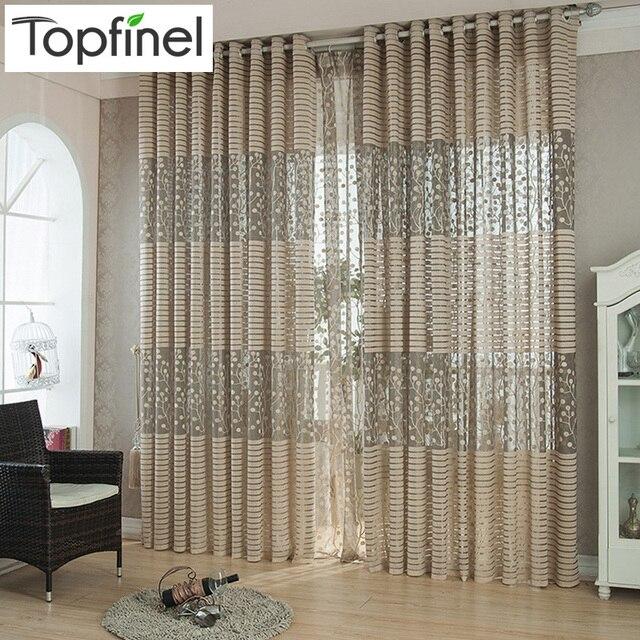 aliexpress.com : top finel streifen moderne luxus fenster vorhänge ...