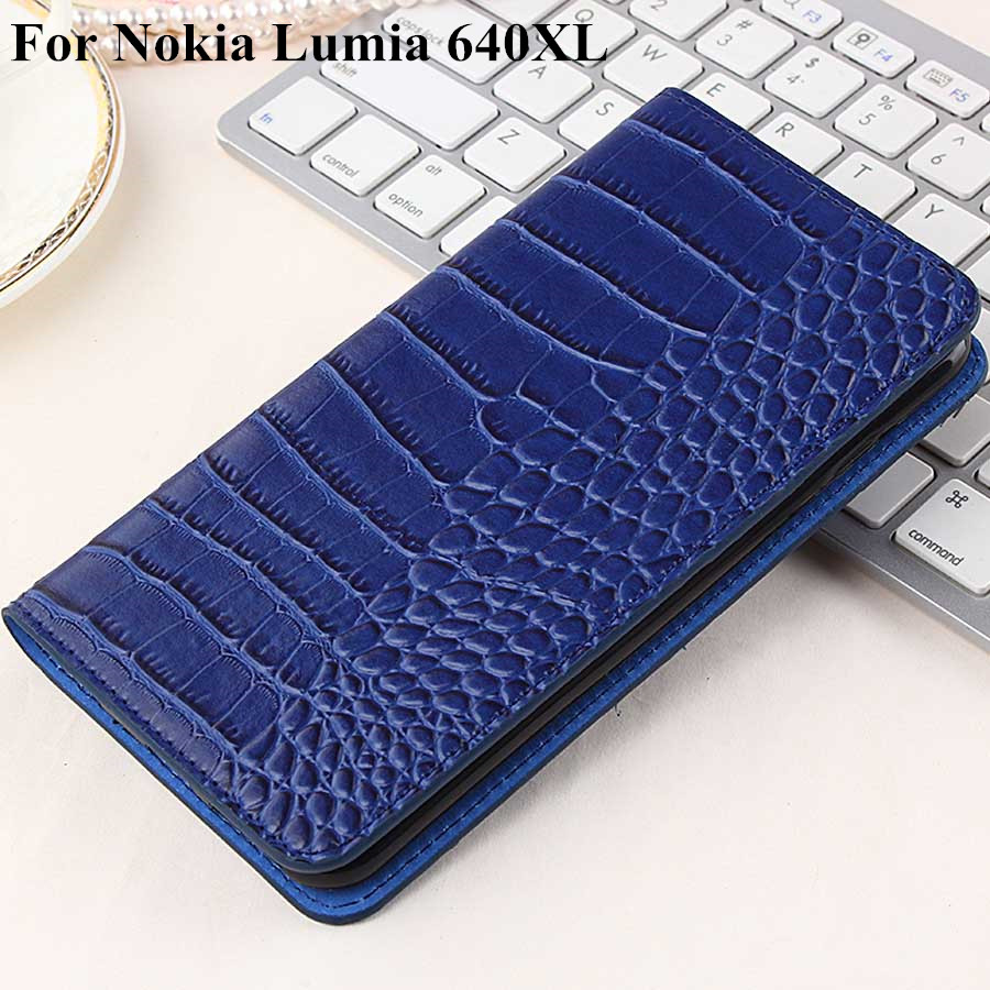 New Case For Nokia Lumia 640XL Cover Leather Luxury Flip