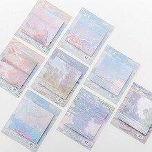 8Pcs / set Memo Pad природний декор живопис творчості 30 аркушів липкі примітки подорожі наклейки для нот Scrapbooking канцелярські