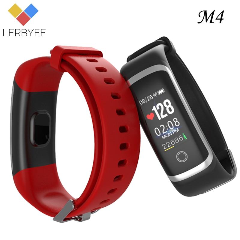 Lerbyee M4 Smart Armband Schlaf Monitor Bluetooth Fitness Tracker Rufen Erinnerung Nehmen Fotos Sport Armband für iOS Android
