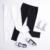 Pantalones Vaqueros de las muchachas Blanco Normal Cintura Otoño 2017 Primavera color Puro Elástico Larga Flaco Vaqueros Delgados Pantalones Negros Para Niños