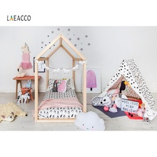 Laeacco Boubior Tent Wigwam Baby Newborn Toys Party Interior Photo Backgrounds Photography Photocall Stuido