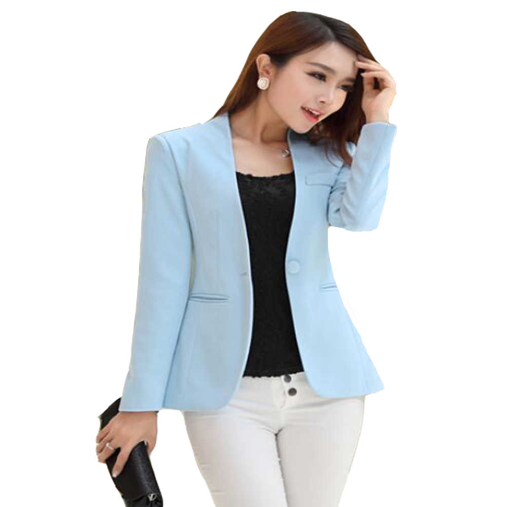 44121e01102 ... 2019 Spring Autumn Long sleeve Shrug Women Blazer Candy Color ladies  blazer jacket Suit Jackets women