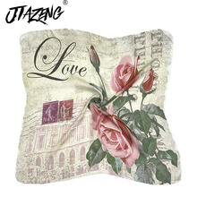 Spring Summer Hot Sale 2019 Scarf Scarves Kerchief Silk Scarf Women Scarf Flower And Stamps New Print Accessories Wholesale 70 hot sale dot and tassels embellished voile scarf for women