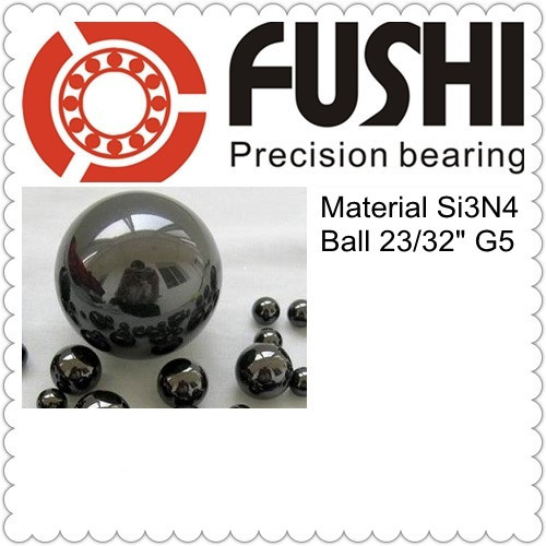 Free Shipping 2PCS Loose Ceramic Balls 23 32 18 256mm G5 Quality Si3N4 Bearing Balls